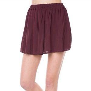 brandy maroon skater skirt